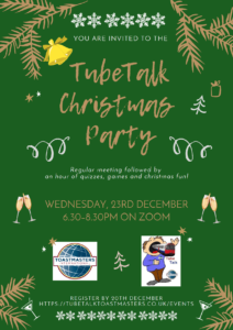 Tube Talk Christmas Party 2020