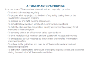 A Toastmasters's Promise